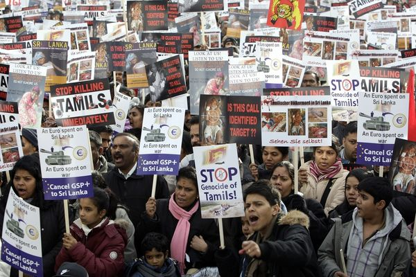 Tamils protest switzerland