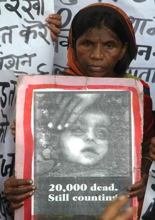 Bhopal gas victim protests