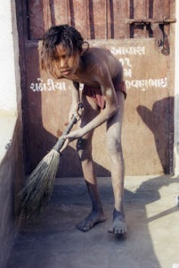Dalit sweeper boy