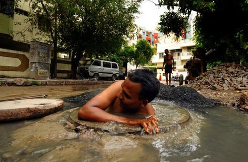 Dalit sewage workers caste