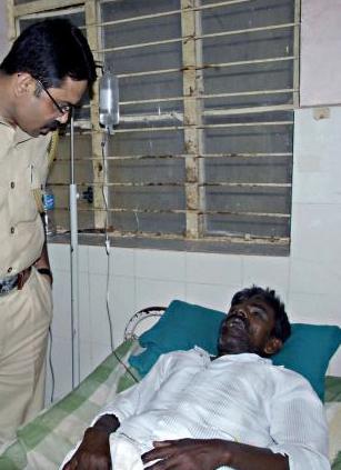 Dalit beaten drum